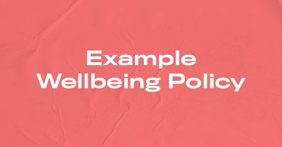 Example wellbeing policy